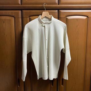 プリーツプリーズイッセイミヤケ(PLEATS PLEASE ISSEY MIYAKE)のHOMME PLISSE ISSEY MIYAKE スタンドカラーシャツ(シャツ)
