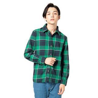 グラム(glamb)の美品 19AW glamb グラム エルバスチェックシャツ ネルシャツ 3(シャツ)