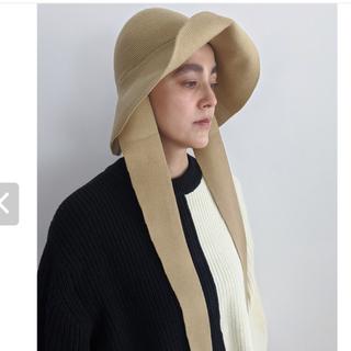 エディットフォールル(EDIT.FOR LULU)の完売!新品※ Mediamミディアム knit hat ベージュ(ハット)