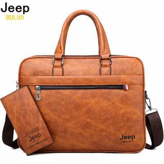 Jeep Buluo★牛革メンズ★ブリーフケース★ビジネスバッグ ★新品未使用♪