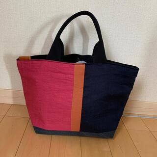 ムジルシリョウヒン(MUJI (無印良品))の【新品未使用】マグネットホック付 リネン&帆布bag 3(バッグ)