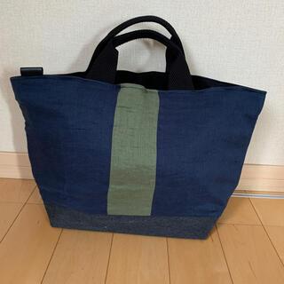 ムジルシリョウヒン(MUJI (無印良品))のリネン&ヴィンテージ帆布(裏地8号黒帆布)bag 4(バッグ)