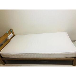 ムジルシリョウヒン(MUJI (無印良品))のシングルベッド+マットレス(シングルベッド)