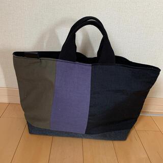 ムジルシリョウヒン(MUJI (無印良品))の【新品未使用】リネン&ヴィンテージ帆布(裏地8号黒帆布)bag 5(バッグ)