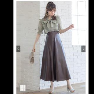 グレイル(GRL)のGRL グレイル レザーフレアースカート ももち紹介(ロングスカート)