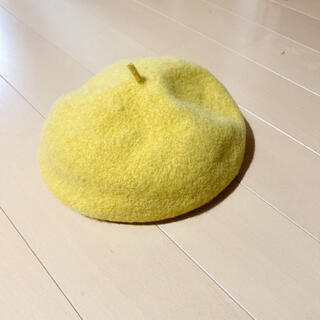 ビームスボーイ(BEAMS BOY)のBEAMSBOY イエロー ベレー帽(ハンチング/ベレー帽)