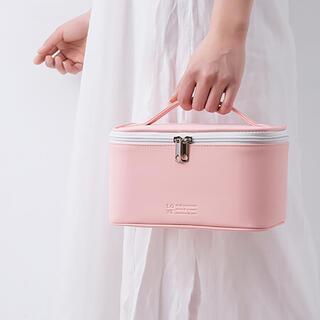 おしゃれ化粧品バッグ コスメバッグ メイクバッグ 防水 軽量 〈ピンク〉 新品(メイクボックス)