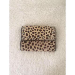 ユナイテッドアローズ(UNITED ARROWS)のハラコ レオパード柄 ♡財布 アローズ (財布)