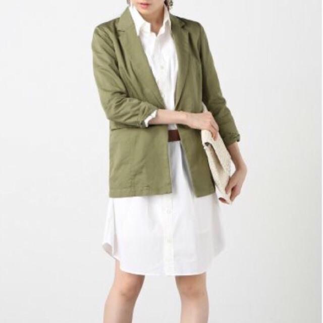 Noble(ノーブル)の夏にぴったり!Nobleリネンジャケット レディースのジャケット/アウター(テーラードジャケット)の商品写真