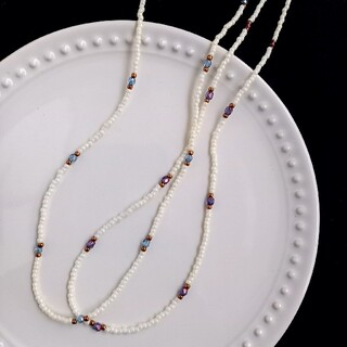 Lochie - 01 bead necklace (Purple)