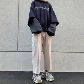 cruffin  snap pants パンツ ベージュ(スラックス)