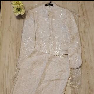 アナイ(ANAYI)のANAYI ミックスラメ ツイードジャケットスーツ スカートセット 冬 冠婚葬祭(セット/コーデ)
