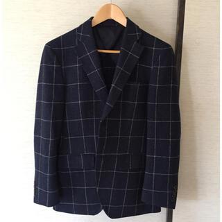 アオキ(AOKI)のツイード ジャケット ネイビー 紺 Y4 165 スリム(スーツジャケット)