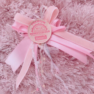 ミルクリーム(milklim)の本日限定 baby pink brooch(ブローチ/コサージュ)