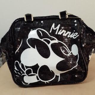 ディズニー(Disney)のミッキーマウス&ミニーマウス スパンコール エナメル ボックス型ハンドバッグ(ハンドバッグ)