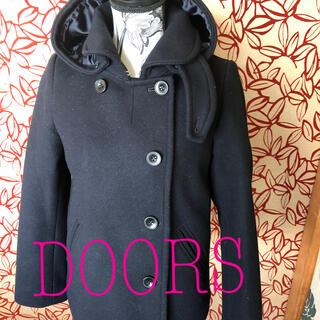ドアーズ(DOORS / URBAN RESEARCH)のdoors  ショールカラー 2wayコート 美品 サイズ40(ピーコート)