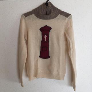 アトリエドゥサボン(l'atelier du savon)のポスト柄ハイネックニット(ニット/セーター)