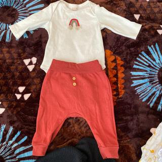 ナルミヤ インターナショナル(NARUMIYA INTERNATIONAL)の【美品】プチメイン ボディスーツ&ボトムス(ロンパース)