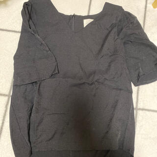 Ameri VINTAGE - AMAIL トップス 半袖 SHOULDER POINT CLOTH ブラック
