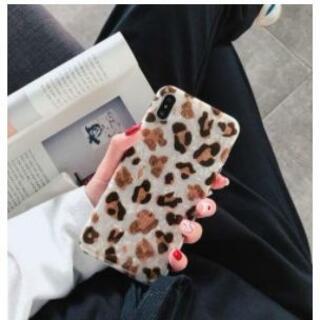 iphoneカバー ヒョウ柄 ホワイトブラウン 可愛い オシャレ シェルケース (iPhoneケース)