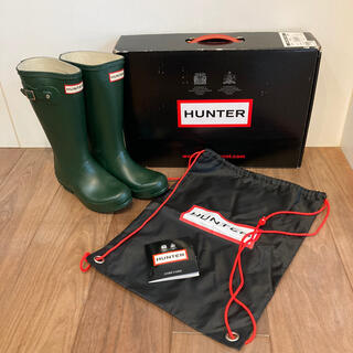 HUNTER レインブーツ キッズ UK1 (JP20cm)