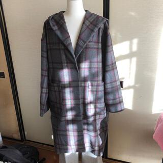 ジーユー(GU)のgu コート+パンツ美品(ロングコート)