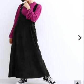 メルロー(merlot)のメルロー アシンメトリー 黒ジャンパースカート(ロングワンピース/マキシワンピース)