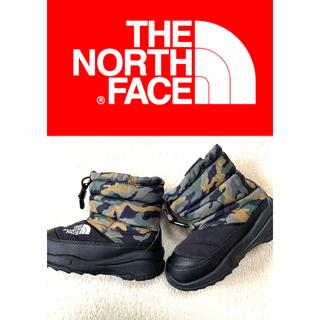 ザノースフェイス(THE NORTH FACE)のノースフェイス ヌプシブーツ キッズ靴/16cm♪迷彩/ノベルティ(ブーツ)