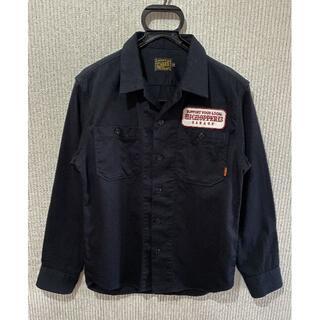 キャリー(CALEE)の*キャリー CALEE ワッペン バック刺繍 長袖 ワークシャツ S(シャツ)