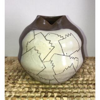 [新品未使用] 玉原焼 迦葉窯 花瓶(花瓶)