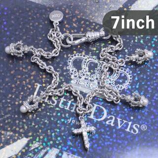 ジャスティンデイビス(Justin Davis)のジャスティンデイビス 7インチ ダイヤモンドクロスブレスレット 廃盤 希少(ブレスレット/バングル)
