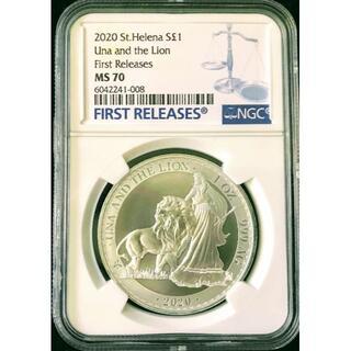 《希少19枚 》英領セントヘレナ島 ウナとライオンコイン2020 最高鑑定FR(貨幣)