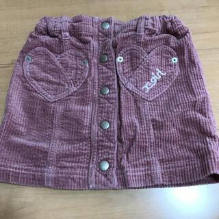 エックスガールステージス(X-girl Stages)のX-girl STAGES ハートポケットスカート120(スカート)