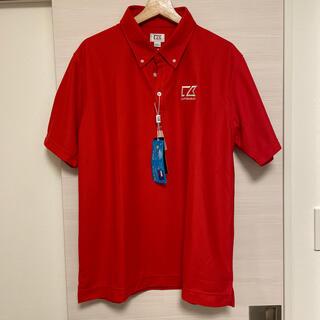カッターアンドバック(CUTTER & BUCK)の(新品未使用)CUTTER&BUCK ポロシャツ赤 ゴルフウェア(ウエア)