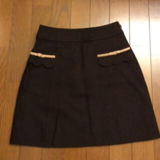 ロディスポット(LODISPOTTO)の美品⭐️ロディスポット台形型タイトスカート ブラウン(ひざ丈スカート)