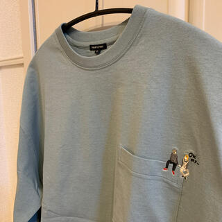 フリークスストア(FREAK'S STORE)のFREAK'S STORE 刺繍デザインポケット米綿ロングスリーブTEE(Tシャツ/カットソー(七分/長袖))