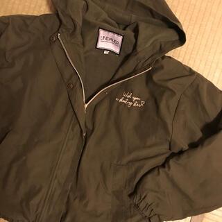 シマムラ(しまむら)のカーキジャンパー裏起毛(フリース)160美品(ジャケット/上着)