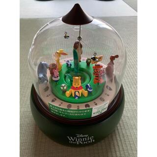 ディズニー(Disney)のジオラマからくり置時計 くまのプーさん(置時計)