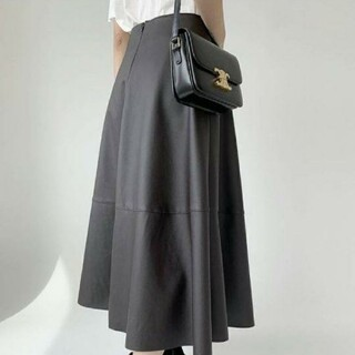 ザラ(ZARA)のBIRTHDAY BASH レザースカート M(ロングスカート)