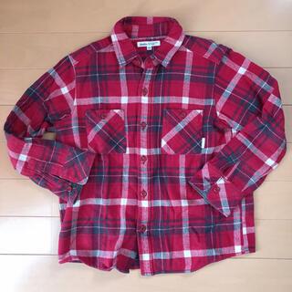 ベベ(BeBe)のBeBe   チェックシャツ ネルシャツ 130(ブラウス)