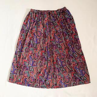サンタモニカ(Santa Monica)のVintage 90s USA製 ペイズリー柄スカート(ロングスカート)