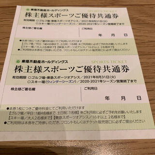 東急不動産 株主優待 スポーツご優待共通券 2枚セット(その他)