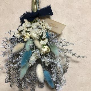 ♡専用No.245 blue*white ドライフラワースワッグ♡(ドライフラワー)