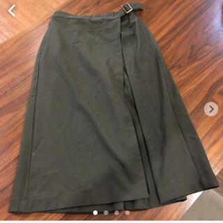 イッカ(ikka)のikka イッカ 巻きスカート風 ワイドパンツ L(カジュアルパンツ)