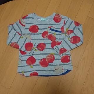 ハッカ(HAKKA)のリンゴ柄のトレーナー(Tシャツ/カットソー)