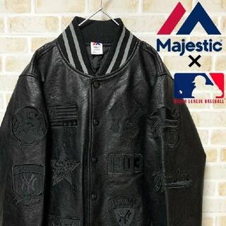 マジェスティック(Majestic)の【極上品】激レア Majestic MLB ヤンキース スタジャン サイズL相当(スタジャン)