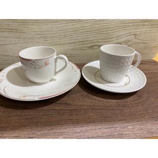 ミカサ(MIKASA)の商品 MIKASA デミタスカップ&ソーサー2客セット(食器)