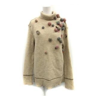 ☆アルベロベロ セーター ニット  ボンボン 刺繍 アルパカ モヘヤ(ニット/セーター)