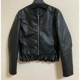レザージャケット 黒(ノーカラージャケット)