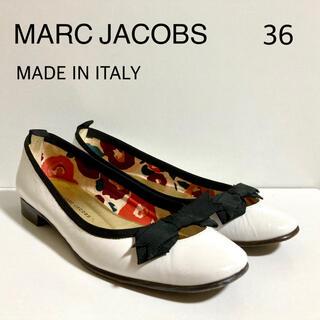 マークバイマークジェイコブス(MARC BY MARC JACOBS)のMARC JACOBS バレエパンプス 36 ホワイト リボン(ハイヒール/パンプス)